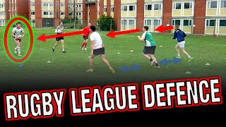 Rugby League - Defensive training and line speed drills with Luke Brimble
