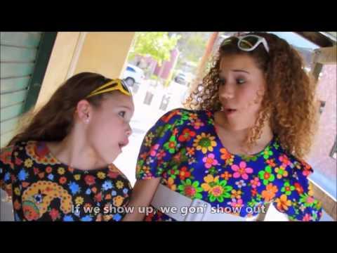 Mark Ronson   Uptown Funk Ft Bruno Mars Haschak Sisters Cover Lyrics On Video