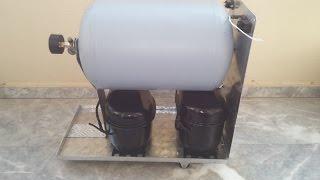 handmade air compressor in aluminum box part 1