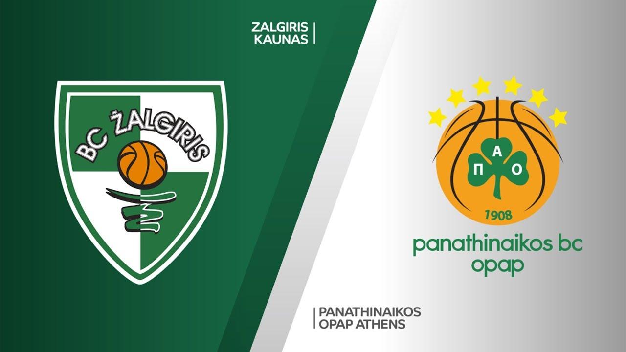 Zalgiris Kaunas - Panathinaikos OPAP Athens Highlights | Turkish Airlines EuroLeague RS Round 19