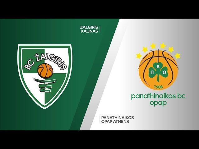 Zalgiris Kaunas - Panathinaikos OPAP Athens Highlights   Turkish Airlines EuroLeague RS Round 19