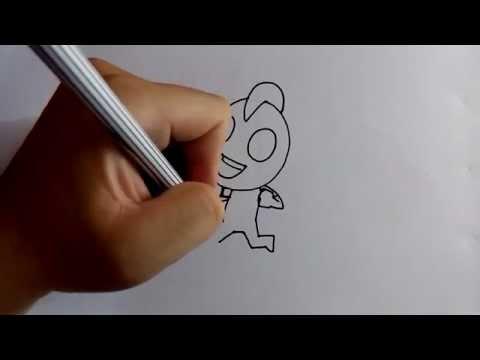 วาดการ์ตูนกันเถอะ สอนวาดการ์ตูน อุลตร้าแมน วิ่ง ง่ายๆ หัดวาดตามได้