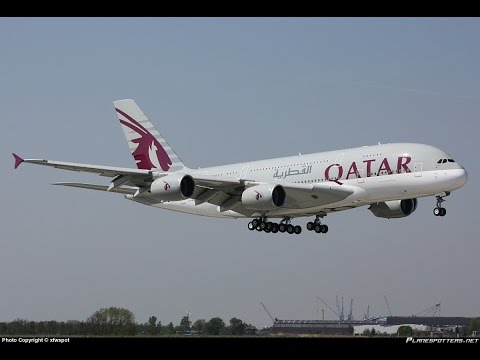 TAKE OFF FROM HAMAD INTERNATIONAL AIRPORT II DOHA II  AIRBUS A330-300 II QATAR AIRWAYS