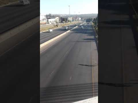 This is Johannesburg South Africa N1 freeway to Pretoria