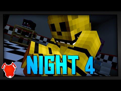 MINE Nights At Freddy's | Night 4 (Hunted) | FNAF Minecraft Roleplay