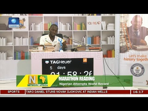 Nigerian Attempts Marathon Reading World Record |Network Africa|