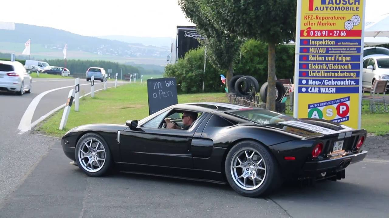 Ford Gt Startup And Acceleration Loud Lovely Sounds In The Eiffel