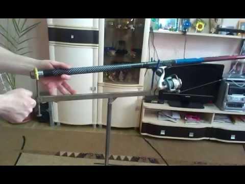 Как сделать подставку для удочки(Fishing rod holder)