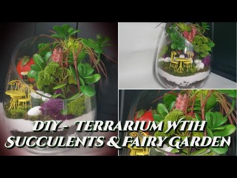 💎CREATIVE GLAM💎 DIY - Terrarium With Succulents & Fairy Garden 📷