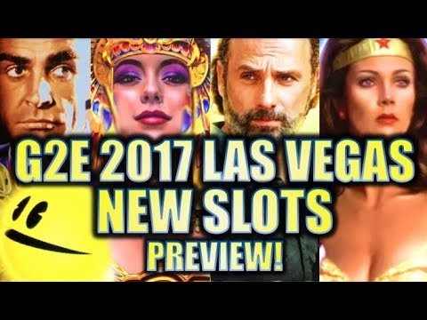 ★G2E 2017★ NEW 2017-2018 SLOT MACHINES SNEAK PEEK PREVIEW!! LAS VEGAS GLOBAL GAMING EXPO PREVIEWS