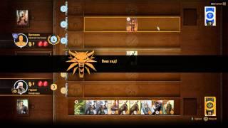 Ведьмак 3. Играем в гвинт с трактирщицей и выигрываем еще 1 карту чудовищ.