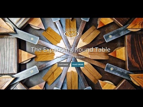 1st Edition Expanding Round Table From Reclaimed Barn Wood