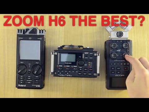 Audio Recorder Shootout! Part 1: Hardware: Roland R26 vs Tascam DR-60D vs Zoom H6