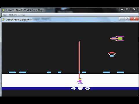 Glacier Patrol - Atari 2600 - emulador SoftVCS 0.01a