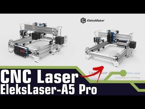 COMO MONTAR UMA CNC Laser EleksLaser-A5 Pro 2500mW | MONTAGEM E FUNCIONAMENTO.