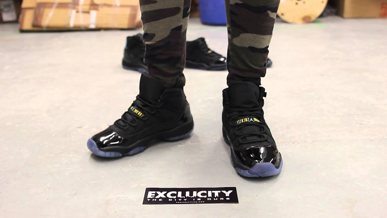 19c5c08c0205 ... best price wmns gs air jordan xi gamma blue on feet video at exclucity  youtube 8a86c