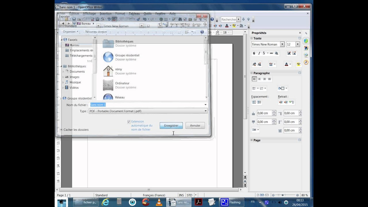 Comment mettre un fichier en pdf sur open office youtube - Comment convertir un fichier pdf en open office ...