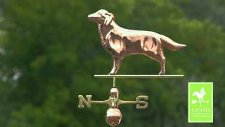 Good Directions 644p Golden Retriever Weathervane - Polished Copper