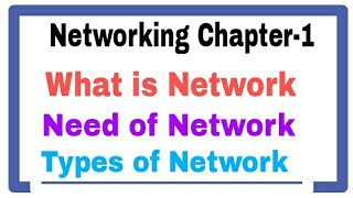 Networking Chapter-1 Basics of Computer Networking   Networking Full Course  