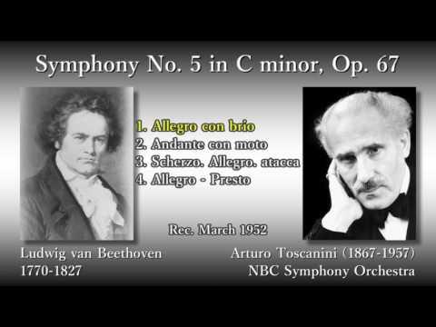 Beethoven: Symphony No. 5, Toscanini & NBCso (1952) ベートーヴェン 交響曲第5番 トスカニーニ