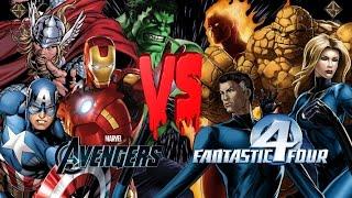 The Avengers (Marvel Comics) vs Fantastic 4 (Marvel Comics) - Ultimate Mugen Fight Turbo