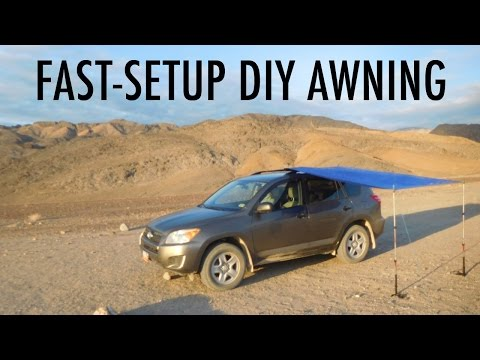 Fast-Setup DIY Van, SUV, or Truck Awning (Great for Vandwelling/Truck Camping)