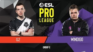 CS:GO - G2 Esports vs. Windigo [Train] Map 1 - Group C - ESL Pro League Season 9 Europe