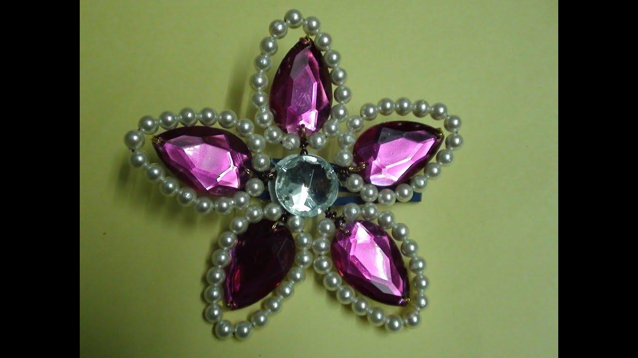 Hair Accessories Pearl Flower Making Video