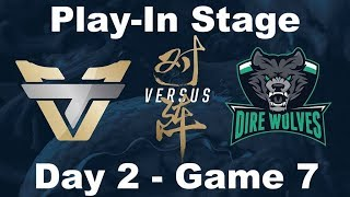 [2017 Worlds] Play In - D2 G7 - DW vs ONE - League of Legends - Dire Wolves vs oNe Esports