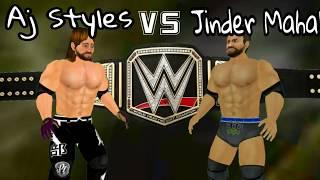 WR3D AJ Styles Vs Jinder Mahal Clash Of Champions