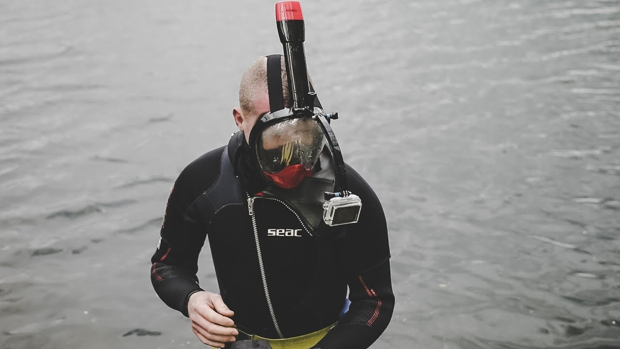 27d15503cb86 FULL FACE snorkel mask with GOPRO mount 🏊🏻 - Review - YouTube