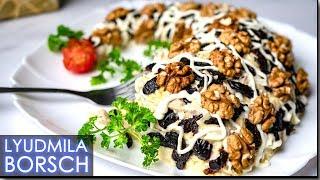 САЛАТ «РОГ ИЗОБИЛИЯ». Сразите гостей этим  салатом.