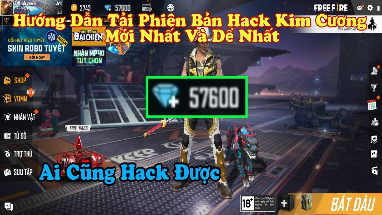 Hacker Tiết Lộ Bản H.a.c.k Kim Cương Free Fire Kinh Khủng Và Dể Nhất Cho Người Không Có Tiền Nạp.