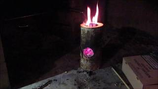 Making a wooden rocket stove without power tools.