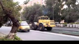 Кировец решил стать трамваем!!прикол...