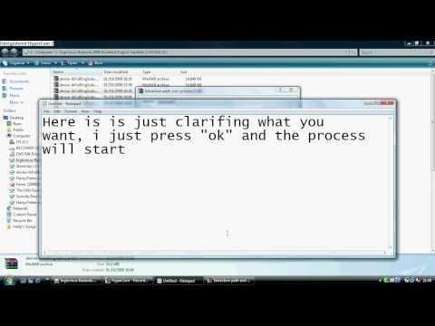 Using WinRar to combine rar files together.