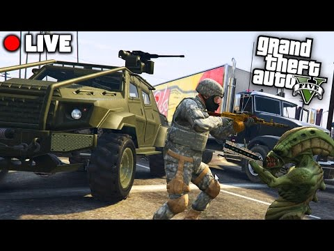 GTA 5 MILITÄR vs ALIENS - ALIEN INVASION! - Deutsch - Grand Theft Auto V Militär Live