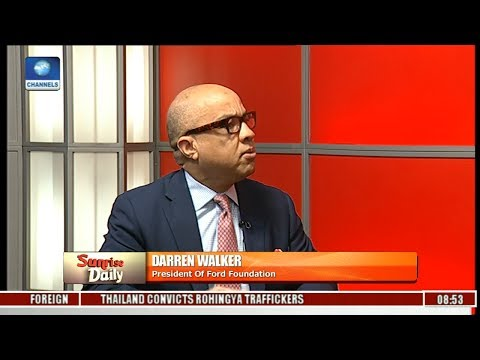 Ford Foundation CEO; Darren Walker Says Bullish About Nigeria,Insists Problems Are Solvable Pt 3