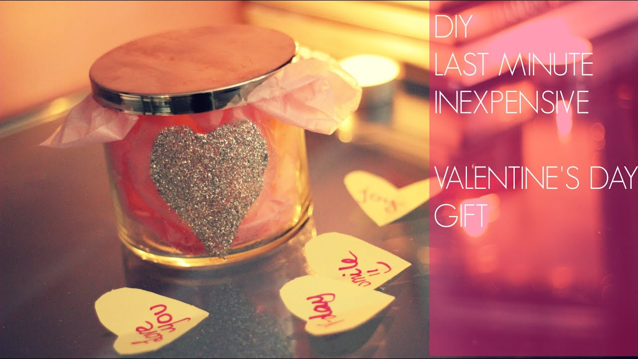 diy last minute inexpensive valentines day gift things i love about you youtube