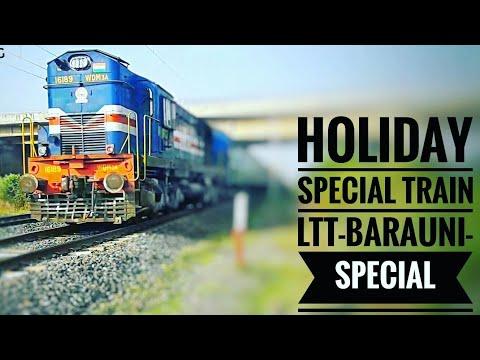 "🔥HOLIDAY/SUMMER SPECIAL TRAIN ""05540 LTT-BARAUNI Special RUSHING TOWARDS JBP WITH GONDA WDM3A 16189"