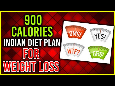 900 calories Indian diet plan for weight loss | VLCD | Extreme diet chart