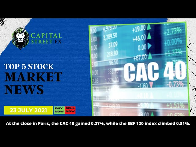[CAC 40 Index] Technical Analysis & Stock Market News By Capital Street FX - July 23, 2021