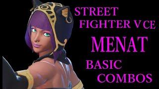 STREET FIGHTER V CE MENAT BASIC COMBOS【スト5CE メナト 基礎コンボ】
