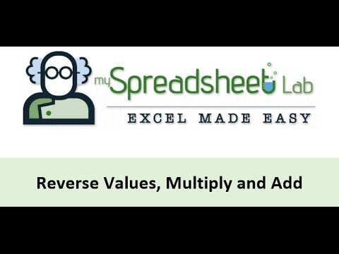 Video 00112 Reverse Column Values, Multiply and Add