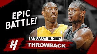 Kobe Bryant vs Dwyane Wade EPIC Duel Highlights 2007.01.15 Lakers vs Heat - AMAZING!