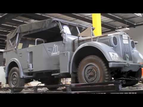 World War 2 German 1942 Horch Type 40 Being Delivered to New Home