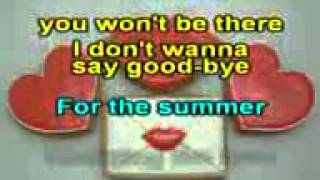 Jason Donovan - Sealed with a kiss - KARAOKE