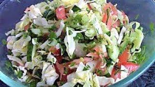 Салат летний ./Легкие салаты ./Овощные салаты ./ Вкусные летние салаты .
