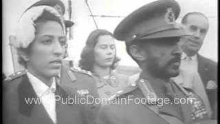 1954 - Emperor of Ethiopia Haile Selassie I Visits The United States