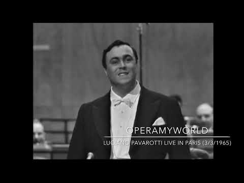 "Luciano Pavarotti - ""Che Gelida Manina"" - RARE TV BROADCAST (Paris, 3/3/1965)"